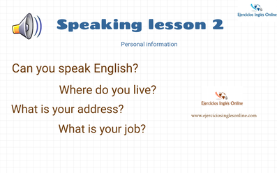 Speaking lesson 2 - Personal information