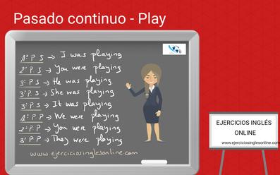 Pasado continuo del verbo play en inglés