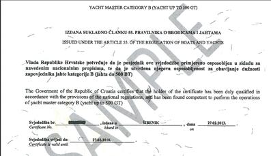 kroatien küstenpatente yachtmaster privates komerzielles kommandieren yachten 500 gt brz panama maritime authority