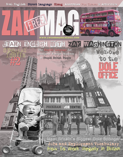 Cover of ZAK MAG. English learning magazine by Miki Pannell Washington