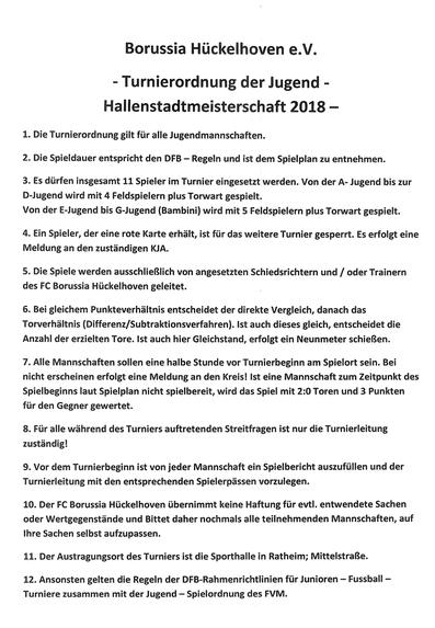 Hallenstadtmeisterschaft Jugend 2018 Herzlich Willkommen