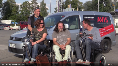 frankie Video balancing Wheelchair Rollstuhl Apache Power Akku S2 Apache drei Länder Tour Bodensee