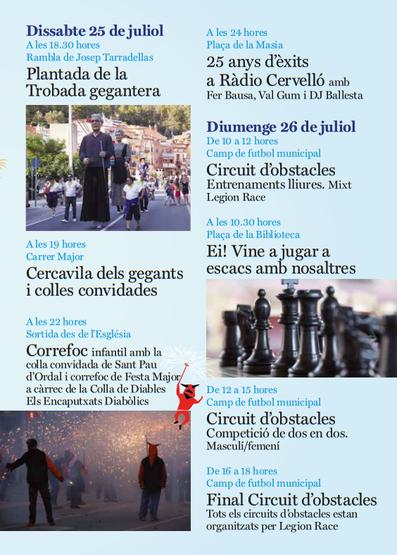 Festa Major de Cervelló 2015 Programa