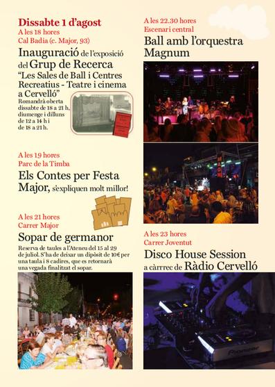 Programa de la Festa Major de Cervelló 2015