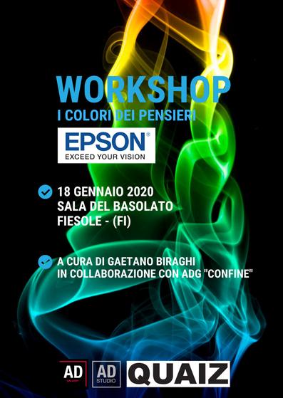 workshop i colori dei pensieri a cura di Gaetano Biraghi Epson in collaborazione con AD Gallery