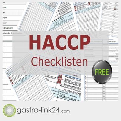 HACCP Checklisten umsonst und gratis und frei benutzbar