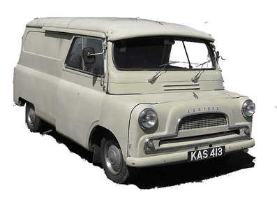 Popular British Bedford van from the early 1970s