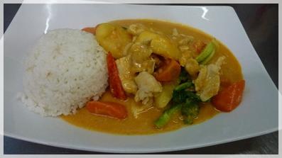 Gelbes Curry mit Huhn