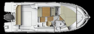 Beneteau Antares 8 OB ORVAS Yachting Yachtcharter Motoryacht Motorboot Split ACI Marina