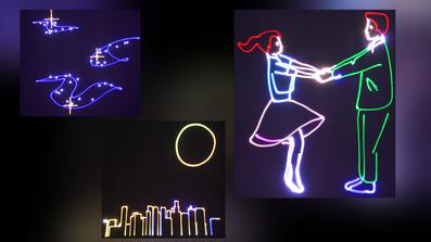 So kann ihre eigen Erstellte Lasershow aussehen