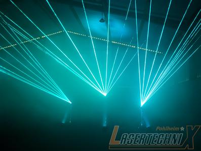 Konzerte und Festivals mit der neusten Lasertechnix illuminiert