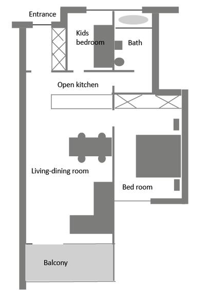 Davos - apartment rental - Floor plan