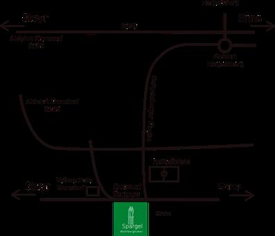 Wegbeschreibung von Nettingsdorf, Nöstlbach, St. Marien, St. Florian, Niederneukirchen