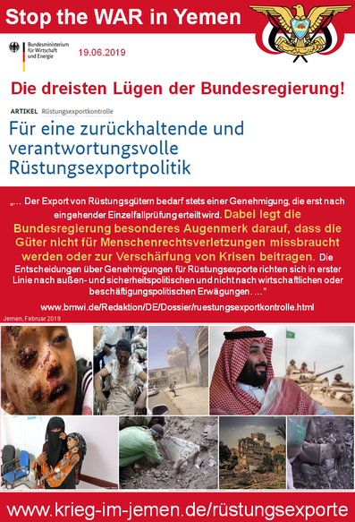 19.06.2019 - BMWI: Rüstungsexportkontrolle  - Für eine zurückhaltende und verantwortungsvolle Rüstungsexportpolitik