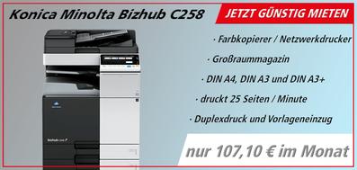 Farblaserdrucker mieten  JTB Bürotechnik