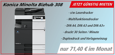s/w Drucker mieten bei JTB Bürotechnik