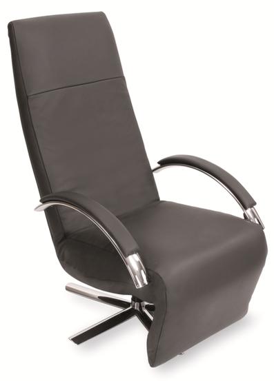 Relaxsessel Strässle Reno Relaxer Recliner Leder schwarz