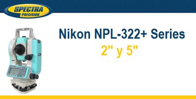 estaciones totales nikon npl322+