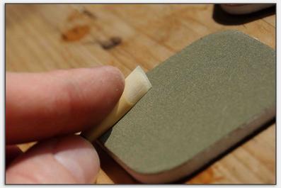 Fassonbearbeitung mit Schleifpad