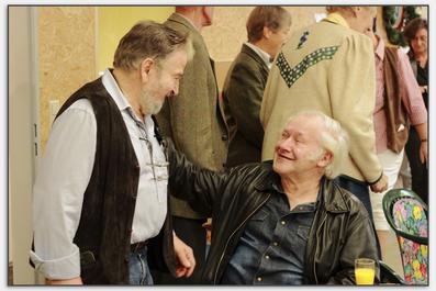 """Georg """"Charlie"""" Willig (links) und Firmengründer Kunibert Michel"""