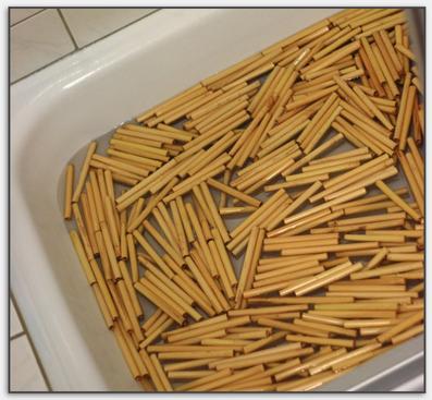 Holz im Wasserbad