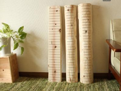 江別市の戸田工務店では、天然木を利用した猫の爪とぎを制作販売しております。