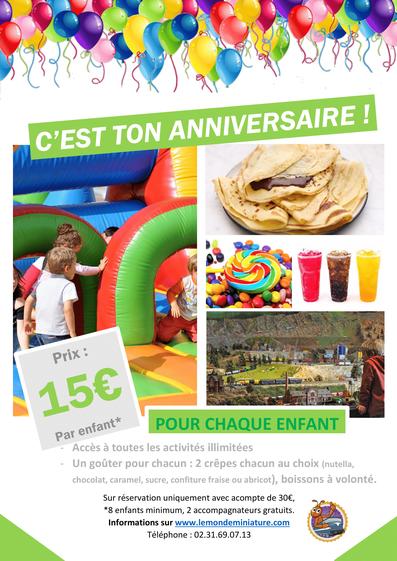 viens fêter ton anniversaire au Chemin de Fer Miniature à Clécy