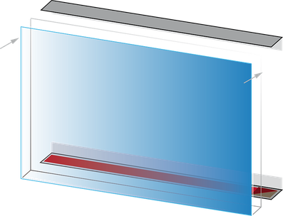 LED wall panel with angle rail - Culina Luce