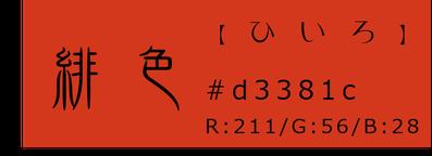 緋色【秋】 秋色【色合い】 和×夢 nagomu farm 和の三要素【Wa-③rd】