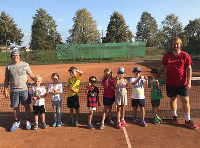 Tennis-Sportabzeichen der jüngsten Tenniskinder des SKG Stockstadt Tennis