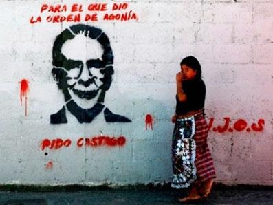 Graffity af Ríos Montt i Guatemala City