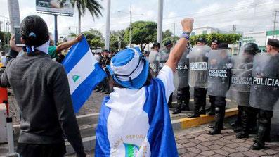 Protester i Managua imod statslig repression