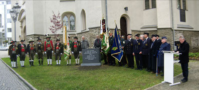 Gedenkstein für die Gefallenen der Völkerschlacht an der Lutherkirche Plauen