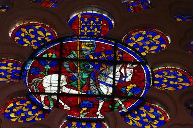 Notre-Dame de Chartres. Rose d'une fenêtre haute du cheur. Cliché Vladimir Renard