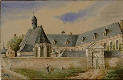 L'hôpital de Rue. Coll. O. Macqueron. Bibliothèque municipale d'Abbeville