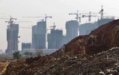 Ganze Städte werden neu gebaut.