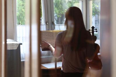 Violins, violas, cellos in Bonn. Foto: Roland Goseberg