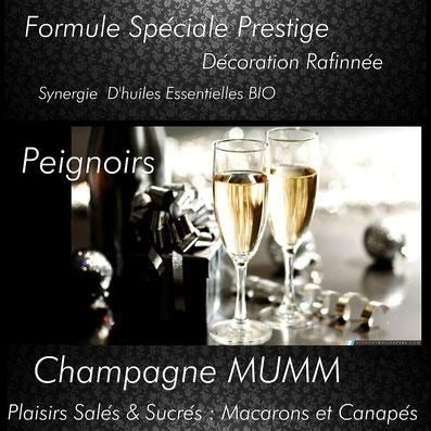Soirée gite avec Champagne en Amoureux