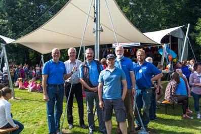 v.li. Johann Hansen, Hans-Heinrich Barnick, Klaus Hass, Tjark Wilts, Gerhard Boll, Klaus Glombeck