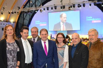 Delegation der Essener FDP beim Landesparteitag in Bielefeld.