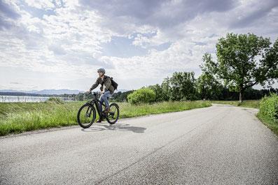 SUV e-Bike von Riese & Müller mit Vollfederung