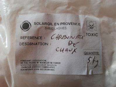 carbonate de chaux = craie = blanc d'Espagne = carbonate de calcium...