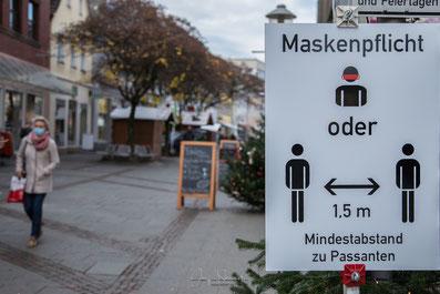 Regelwerk am Eingang der Fußgängerzone