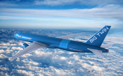 "Image of B777-300ERSF ""BigTwin"" operated in future by lessor GECAS  -  company courtesy"