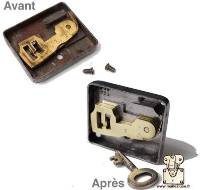 lock mechanism I lost the louis vuitton key