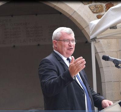 Christian Bruyen est le président du Conseil départemental de la Marne.