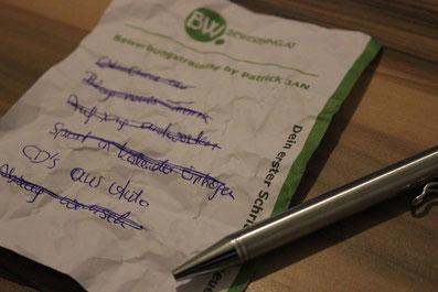 Hier siehst du eine Liste an erledigten Aufgaben