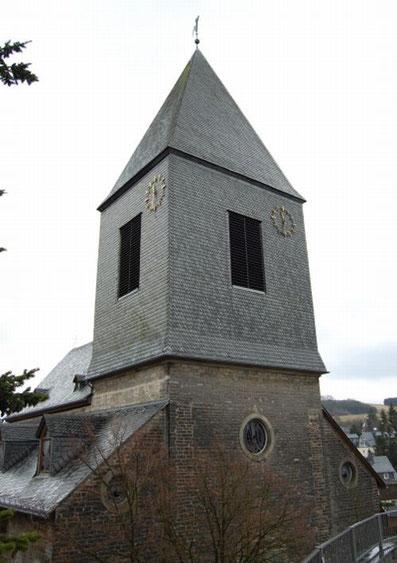 Der aktuelle Kirchturm