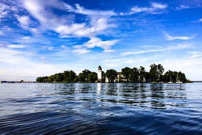 Fraueninsel im Chiemsee - Ausflugsziel von den Ferienwohnungen  Alte Gendarmerie Übersee