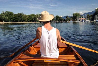 Ruderbootverleih am Chiemseeufer Feldwies